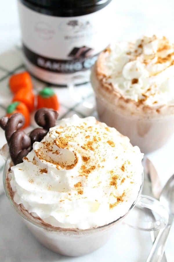 Pumpkin Cinnamon Hot Chocolate   The Bitter Side of Sweet #Choctoberfest