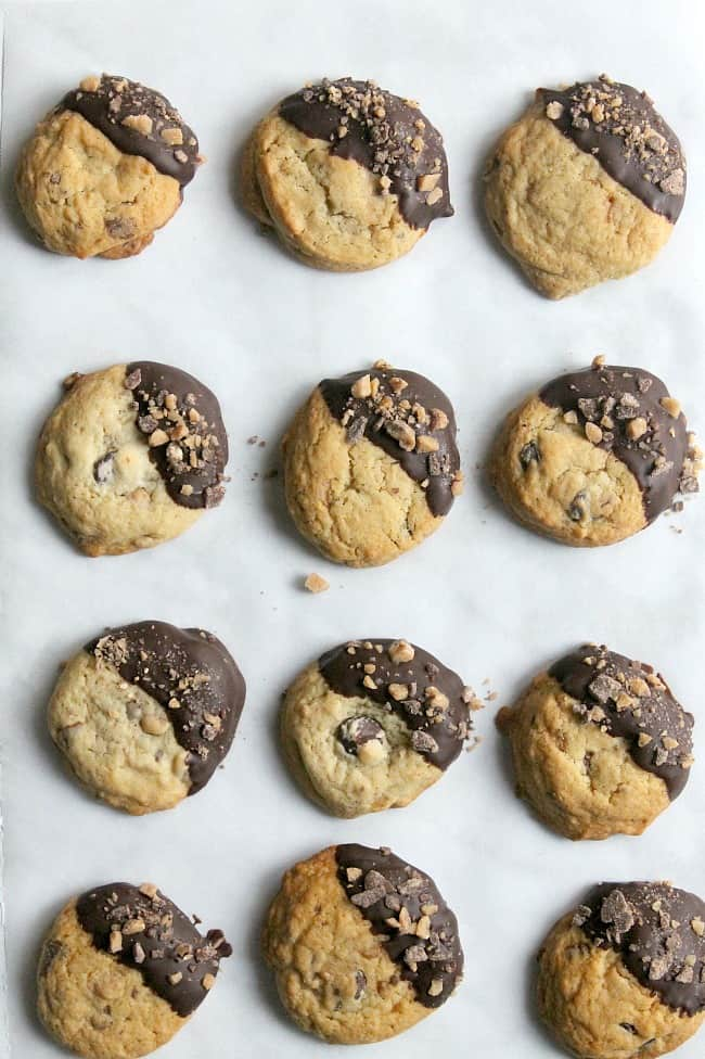 Toffee Chocolate Chip Cookies