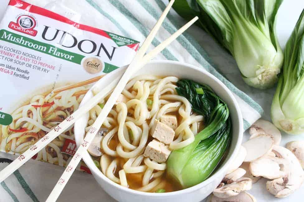 Tofu Teriyaki Noodle Soup | The Bitter Side of Sweet #ad #fortune #chefyaki