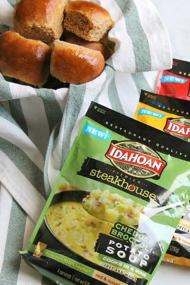 Whole Wheat Dinner Rolls Recipe   The Bitter Side of Sweet #ad #IdahoanSoups