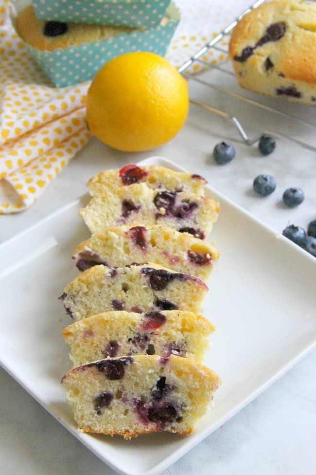 Mini Lemon Blueberry Pound Cakes