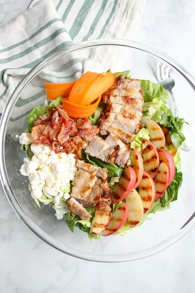 Grilled Pork Loin Salad with Grilled Apples