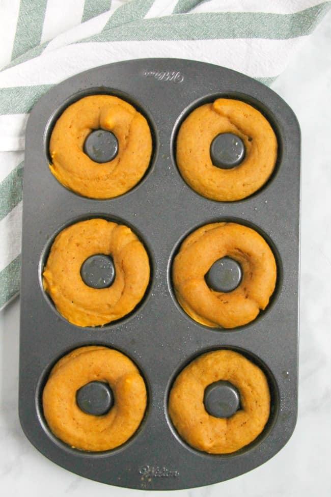 Pumpkin Chocolate Donuts