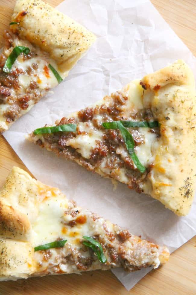 Stuffed Crust Sausage Pizza