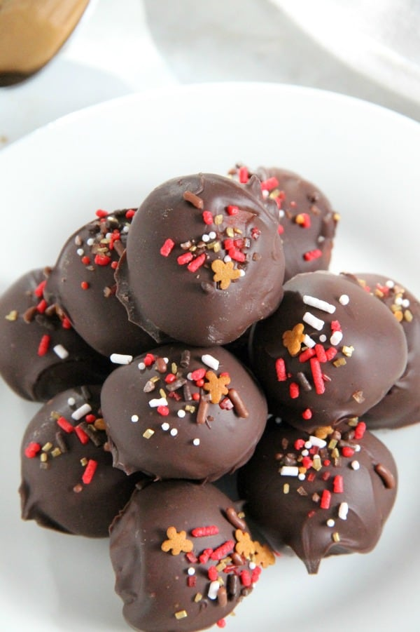 Cookie Butter Balls on white plate