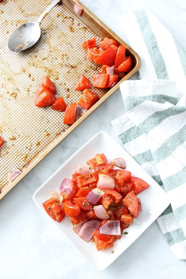 Sheet Pan Roasted Tomatoes with sheet pan
