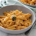 Creamy Pumpkin Pasta in bowl