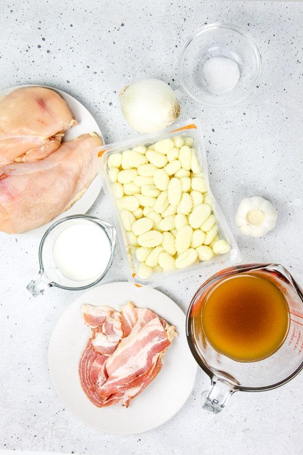 Chicken Bacon Gnocchi Skillet ingredients